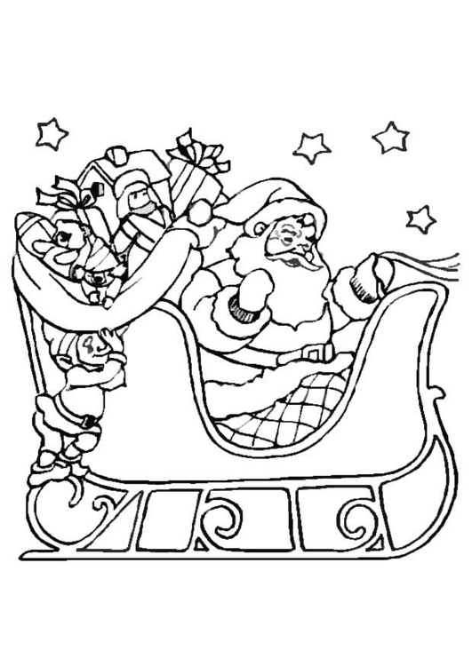 Dibujo Para Colorear Trineo De Navidad Dibujos Para Imprimir Gratis