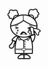 Dibujo para colorear triste