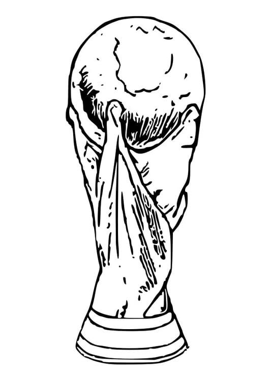 Dibujo para colorear Trofeo de la Copa del Mundo - Img 28739