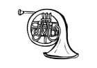 Dibujo para colorear Trompa