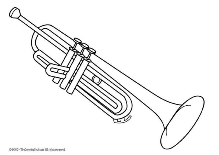 Dibujo para colorear Trompeta  Img 5957
