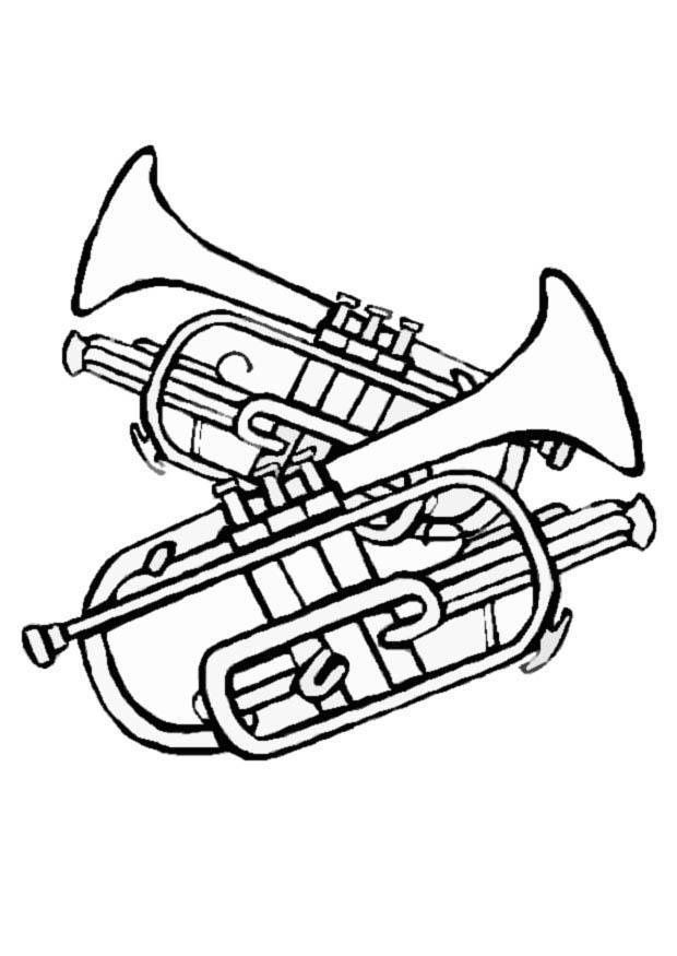 dibujo para colorear trompetas img 8711