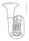 Dibujo para colorear Tuba