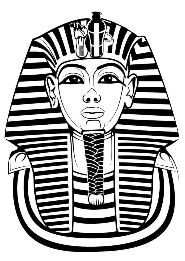 Dibujo para colorear Tutankamon   Img 24761