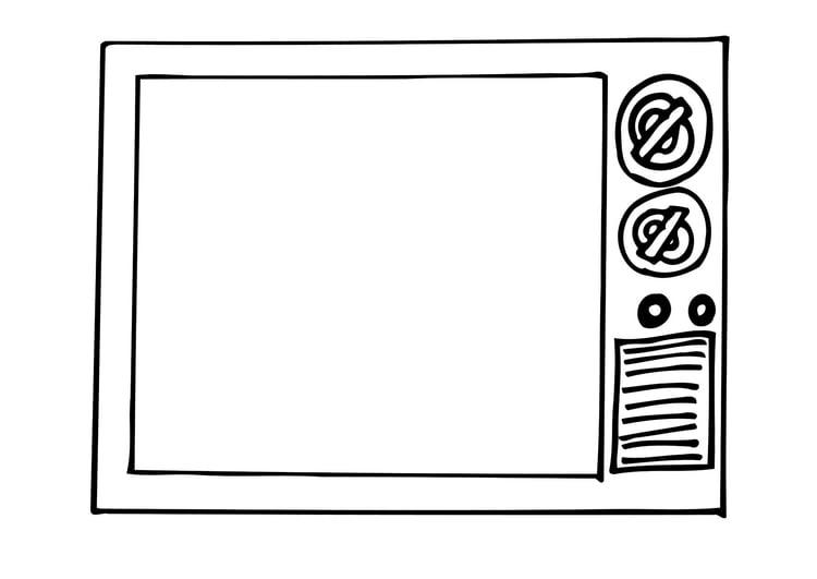 Dibujo Para Colorear Tv Img 12296