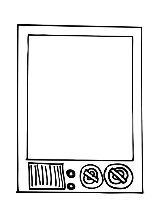 Dibujo para colorear TV - Img 12296