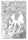 Dibujo para colorear Unicornio