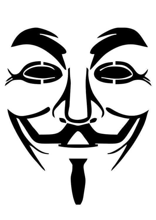 Dibujo Para Colorear V De Vendetta Img 27615 Images