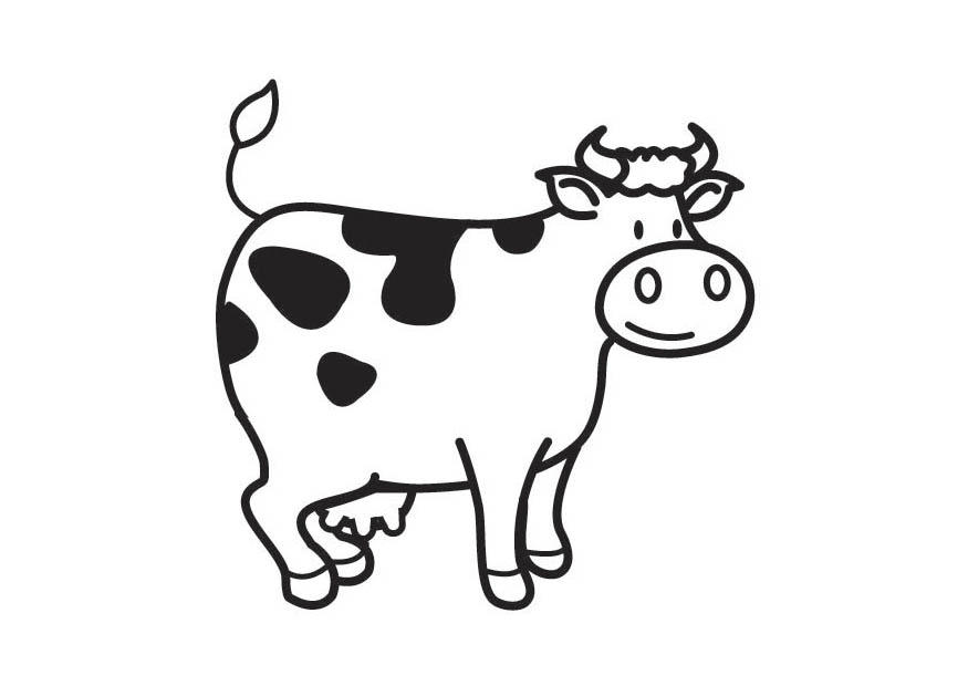 Dibujo para colorear vaca - Img 17792