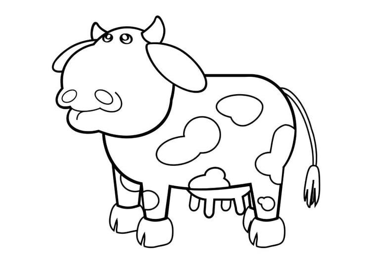 dibujo para colorear vaca img 10243