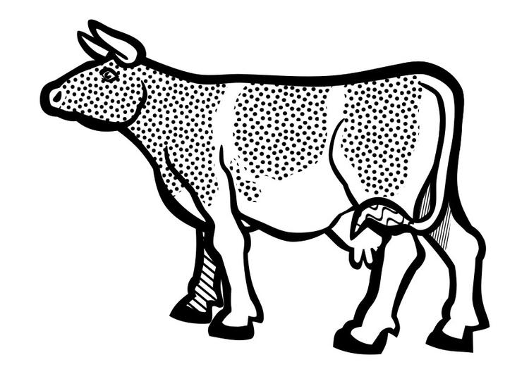 Dibujo para colorear vaca - Img 29638