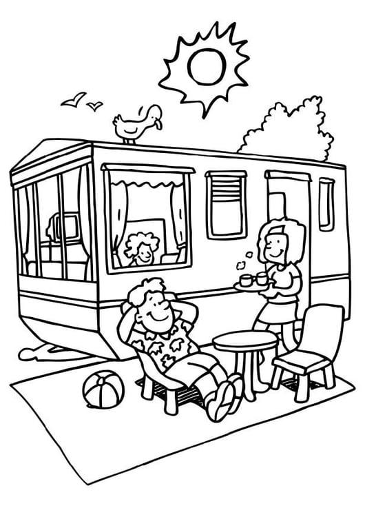 Dibujo Para Colorear Vacaciones En El Camping Img 6558 Images