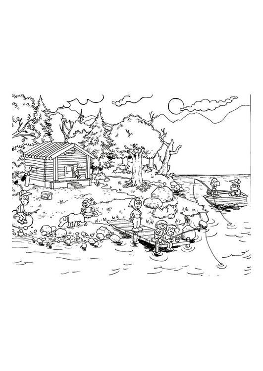 Dibujo para colorear Vacaciones en el mar - Img 9655