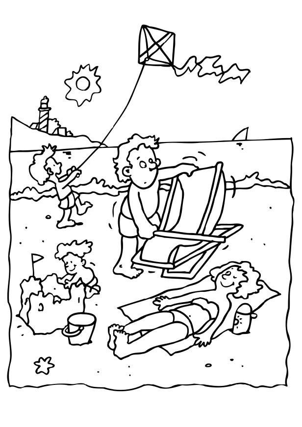 Dibujo para colorear Vacaciones en la playa - Img 6582