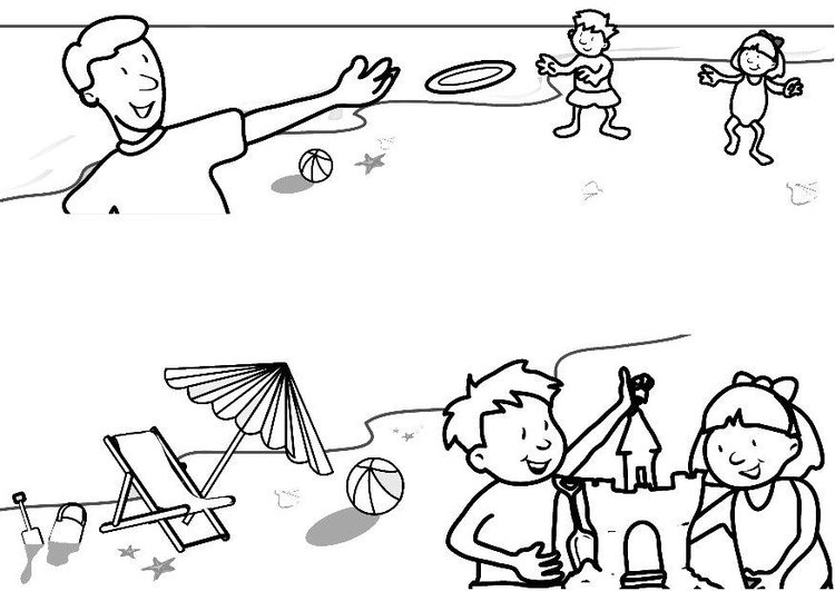 Dibujo para colorear Vacaciones en la playa - Img 7313