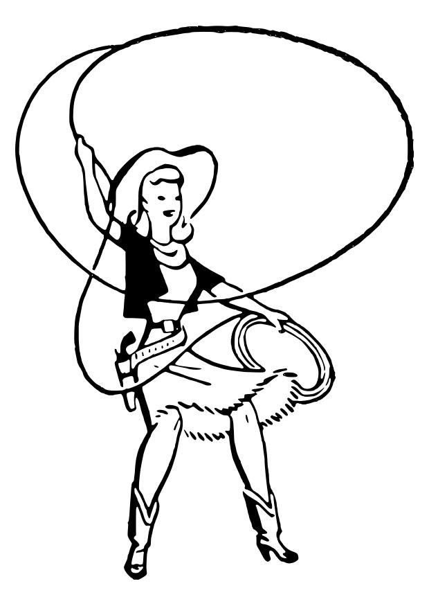 Dibujo Para Colorear Vaquera Img 27913