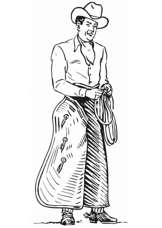 Dibujo para colorear Vaquero - Img 13243