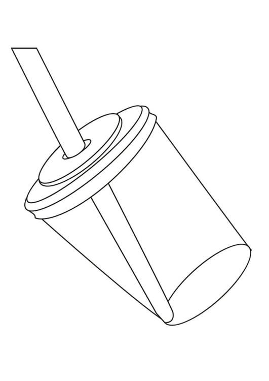 Dibujo Para Colorear Vaso Con Pajita Img 29656