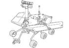 Dibujo para colorear Vehículo de reconocimiento en marte