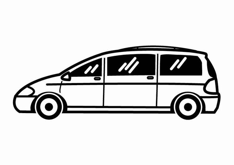 Dibujo para colorear Vehículo familiar - Img 24094