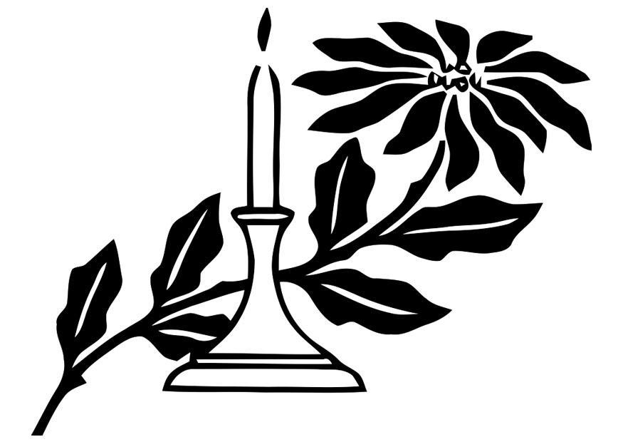 Dibujo para colorear vela de navidad - Img 20314