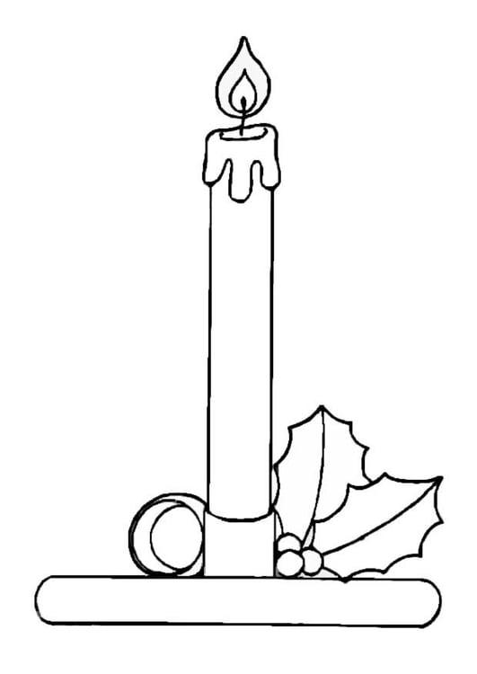 Dibujo Para Colorear Vela De Navidad Img 8655