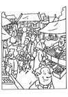 Dibujo para colorear Vendedor de mercado