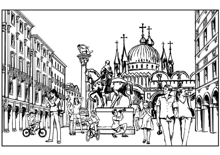 Dibujo Para Colorear Venecia Italia Img 7562 Images