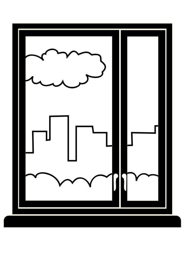 Dibujo para colorear ventana img 29447 - Disegno finestra da colorare ...