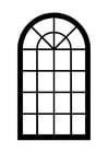 Dibujo para colorear ventana