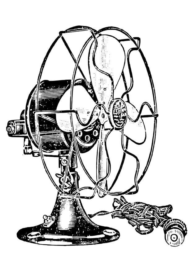Dibujo para colorear ventilador img 27920 - Fotos de ventiladores ...
