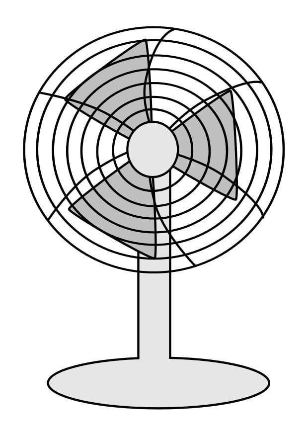 dibujo para colorear ventilador