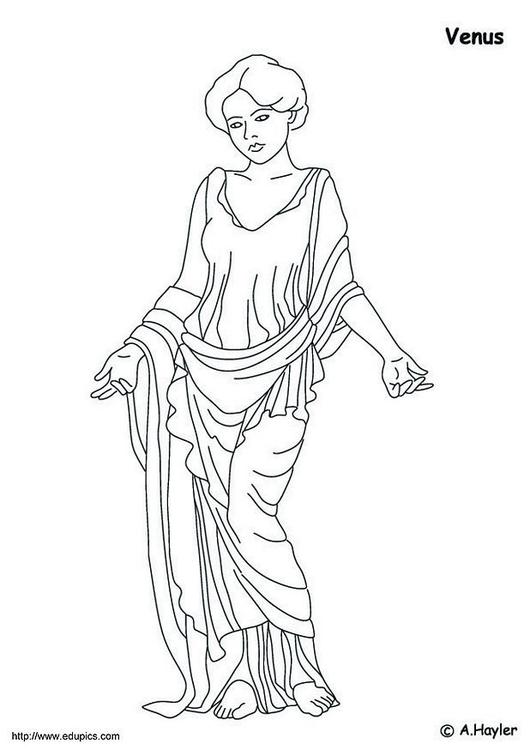 Dibujo para colorear Venus - Img 4188