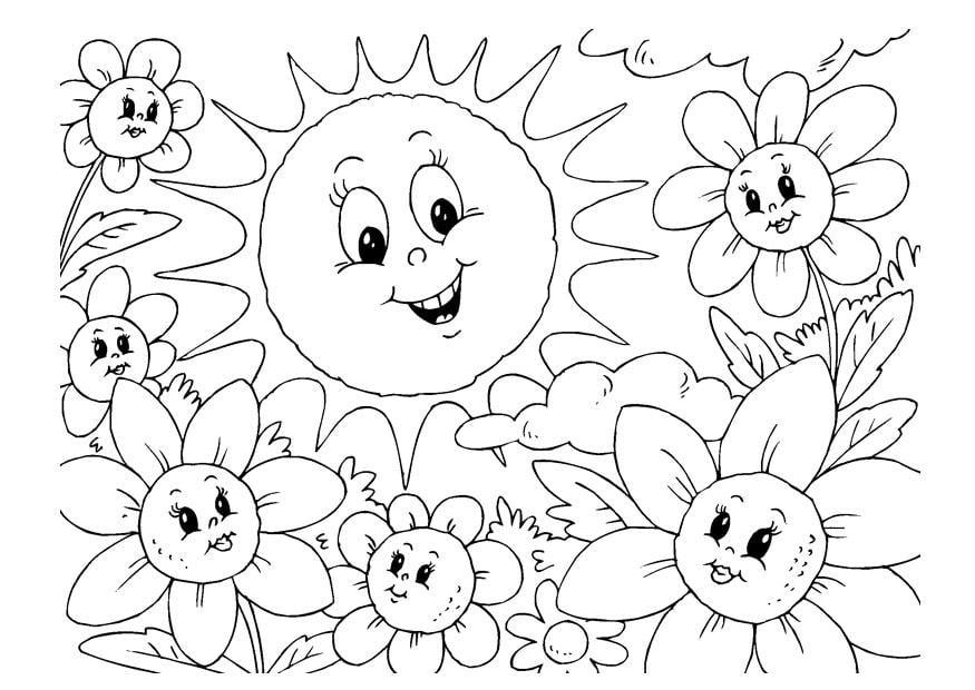 Dibujo para colorear verano - Img 22600