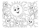 Dibujo para colorear verano