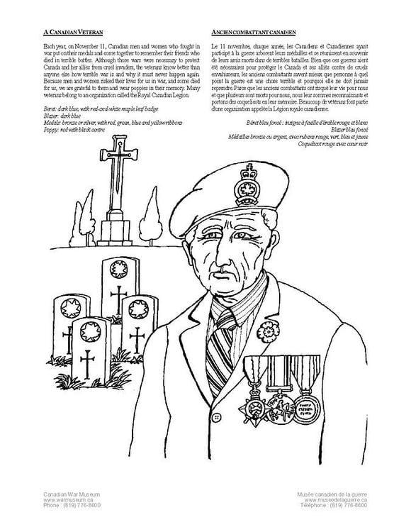 Dibujo para colorear Veterano - Img 4237