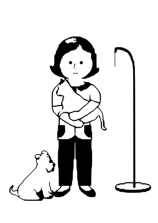 Dibujo para colorear veterinaria - Img 28620