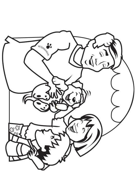 Dibujo para colorear Veterinario - Img 7079