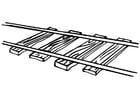 Dibujo para colorear vía del tren