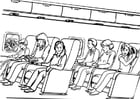 Dibujo para colorear Viajar - avión