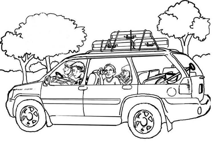 Dibujo para colorear Viajar - coche - Img 8050