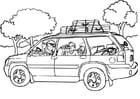Dibujo para colorear Viajar - coche