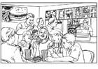 Dibujo para colorear Vida saludable - comida rápida