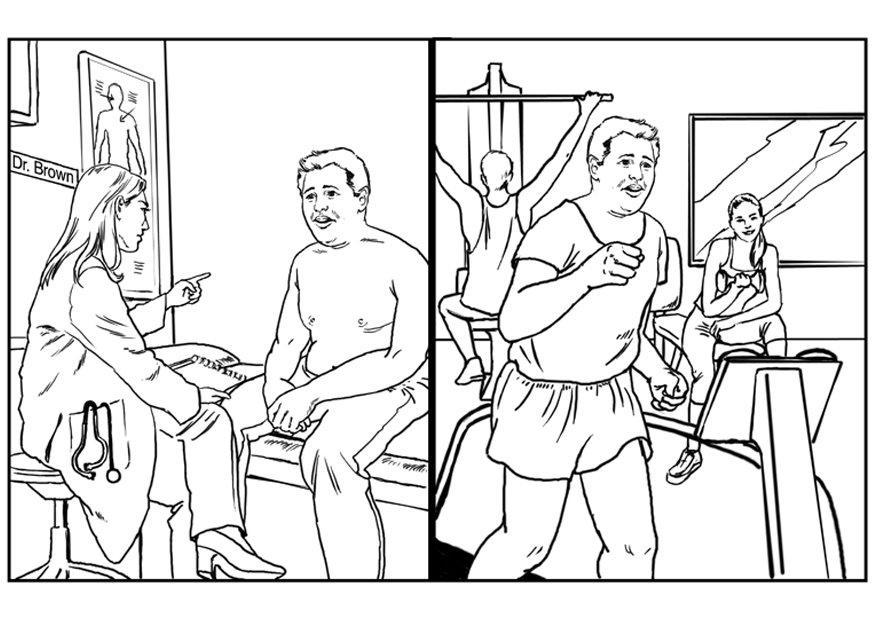 Dibujo para colorear Vida saludable - Img 7525
