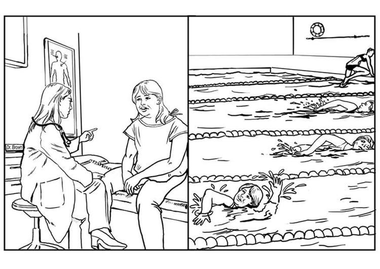 Dibujo para colorear Vida saludable - Img 7526