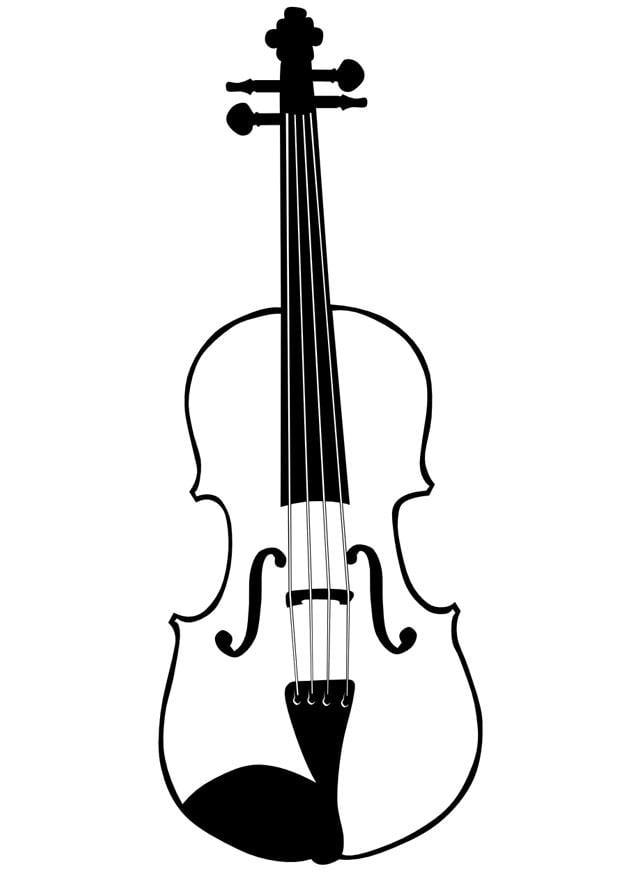 dibujo para colorear violín - img 10033