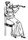 Dibujo para colorear Violinista
