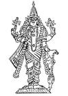 Dibujo para colorear Vishnu