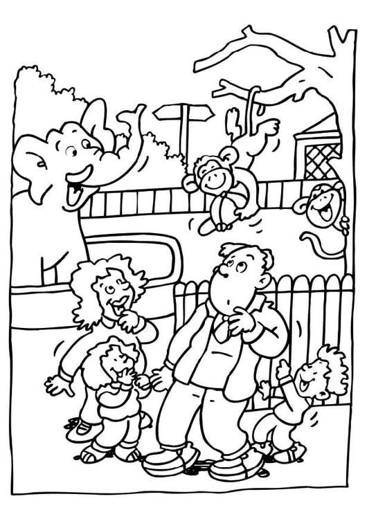 Dibujo para colorear Visita al zoológico - Img 6481