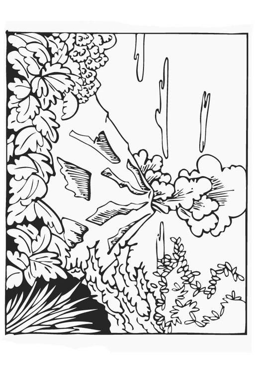 Dibujo Para Colorear Volcán Dibujos Para Imprimir Gratis